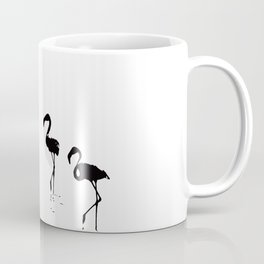 We Are The Three Flamingos Silhouette In Black Coffee Mug