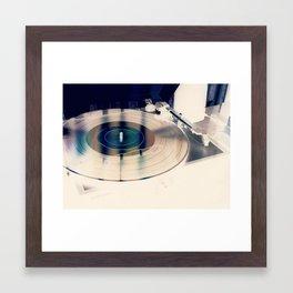 Record On Turntable Framed Art Print