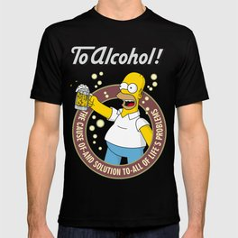 To Alcohol! Homer Simpson T-shirt