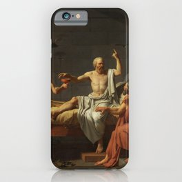 Death of Socrates by Jacques-Louis David iPhone Case