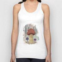 mushroom Tank Tops featuring mushroom by Zuhal Arslan