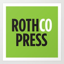 Rothco Press Logo Design. Black + Green Art Print
