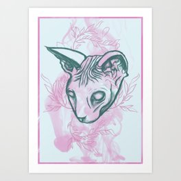Jinxed Sphinx Art Print