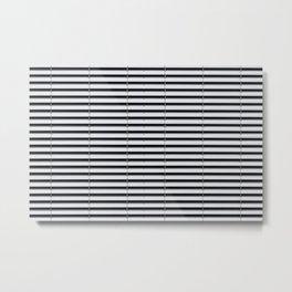 metal shutter background - silver sun blind pattern  Metal Print