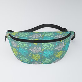 Fishes Batik Style Seamless Pattern Fanny Pack