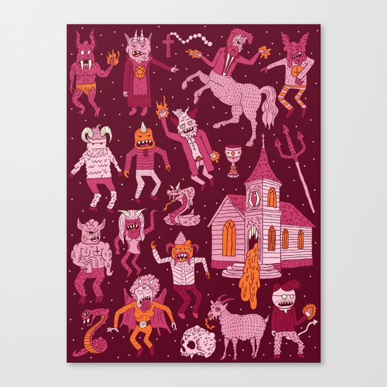 Wow! Demons!  Canvas Print