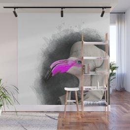 FLAMINGO WATERCOLOR - Cool Animal Art Wall Mural