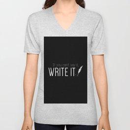 Writing urges #1 Unisex V-Neck