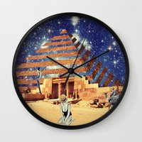 pyramid Wall Clocks featuring Pyramid by Cs025