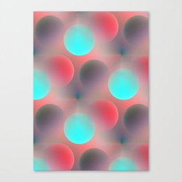 red and turquoise balls -2- Canvas Print