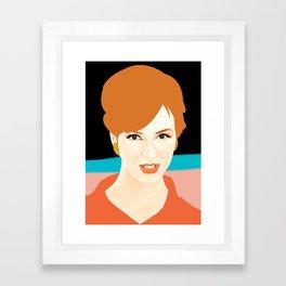 Joan Holloway Framed Art Print