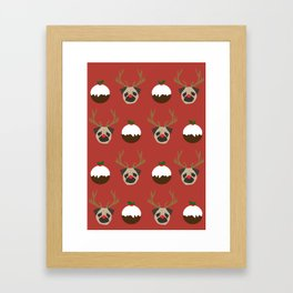 Pugs And Puddings Framed Art Print