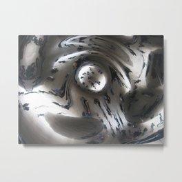 Chicago Bean Swirl Metal Print