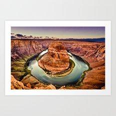 Intimate Sunset at Horseshoe Bend Grand Canyon Arizona Landscape Art Print
