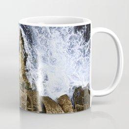 An abstract of the ocean and the coastal rocks. Coffee Mug