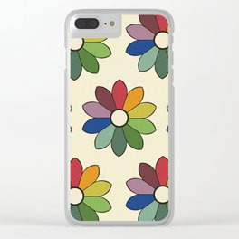 Flower pattern based on James Ward's Chromatic Circle Clear iPhone Case