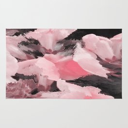 Light Pink Snapdragons Abstract Flowers Rug