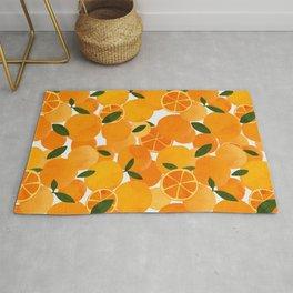 mediterranean oranges still life  Rug