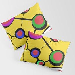 Mid Century Molecules Pillow Sham