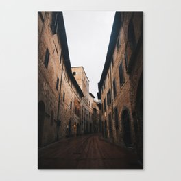 Medieval alley in Tuscany Canvas Print