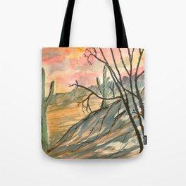 Southwestern Art Desert Painting Tote Bag
