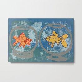Fish Bowls Metal Print