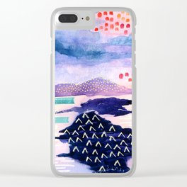 Balmaha Scottish Colourful Watercolour Painting Clear iPhone Case