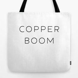 Copper Boom Tote Bag