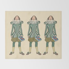 Outfit of Shakespeare Throw Blanket