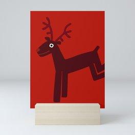Reindeer-Red Mini Art Print