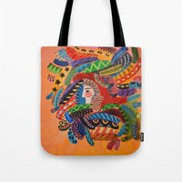 camo Tote Bags featuring Camo by Adrienne S. Price
