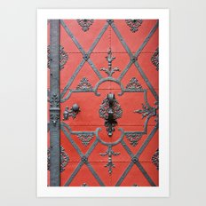 Red Door - Prague, Czech Republic Art Print