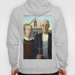 Iconic American Gothic by Grant Wood Hoody