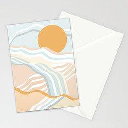 Retro Rainbow Summer Waves Stationery Cards