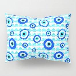 Evil Eye Charms Blue and White Pattern Pillow Sham