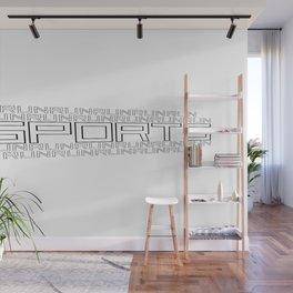 Run for relaxation, pleasure, health... white Wall Mural