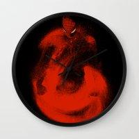 sandman Wall Clocks featuring Enter Sandman by nicebleed
