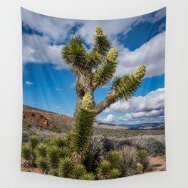 Joshua Spring Blossoms 6611 - Desert Southwest Wall Tapestry