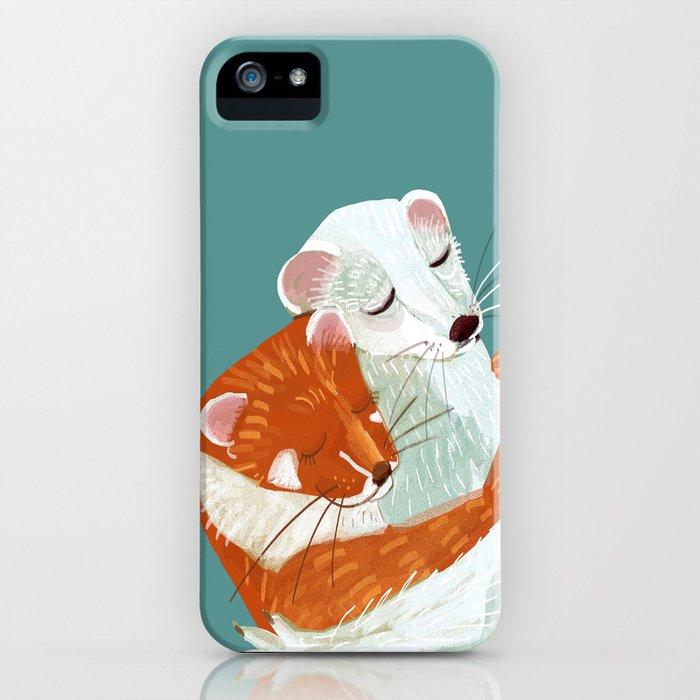 Weasel hugs iPhone Case