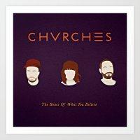 chvrches Art Prints featuring CHVRCHES fanart  by Andrea Solenghi