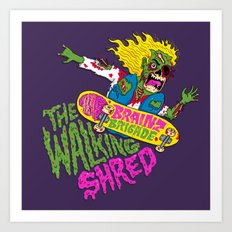 The Walking Shred Art Print