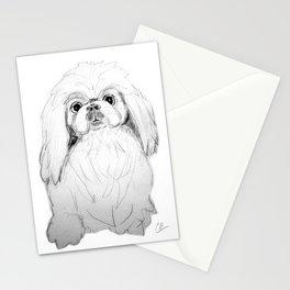 Cartoon Pekingese Dog Stationery Cards