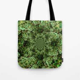 SEA FOAM FROTHY BLUE-GREEN SUCCULENTS Tote Bag