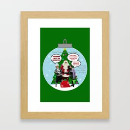 Danny Phantom Christmas ornament greeting card Framed Art Print