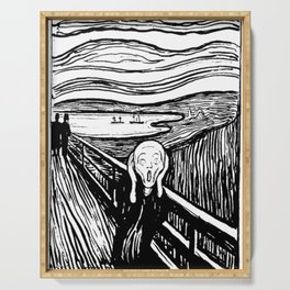 THE SCREAM - EDVARD MUNCH - LITHOGRAPH Serving Tray