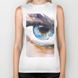 Blue eye Biker Tank
