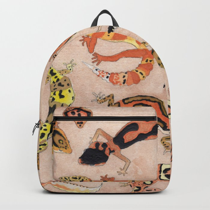 Leopard Gecko Lizard Morphs Backpack by katerose71