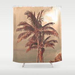 Retro Palm Tree Shower Curtain