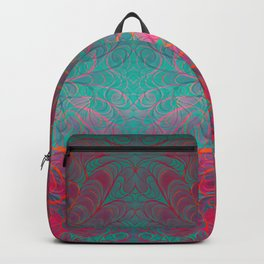 """""""Abstract psychedelic waves"""" Backpack"""
