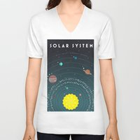 solar system V-neck T-shirts featuring Solar System by scarriebarrie